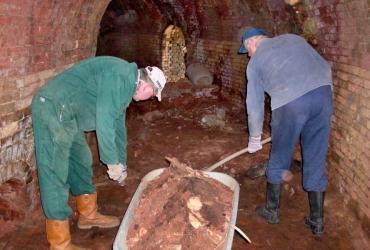 Sanierungsarbeiten am Ringbrandofen Großtreben